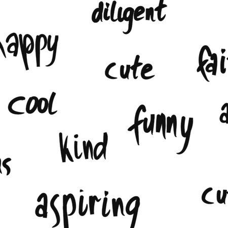 Positive monochrome background with warm descriptions of a person.