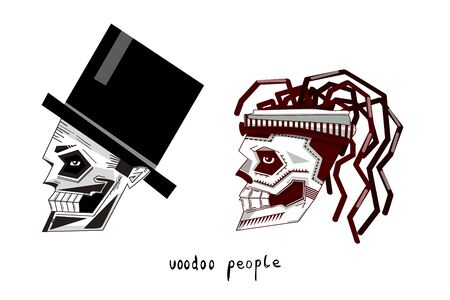 Voodoo themes of aesthetic of death, Halloween, Dia de los Muertos etc.