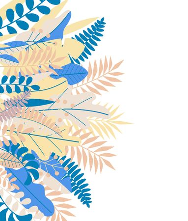 kawaii papercut border created with floral composition in trendy colors. vector illustration.