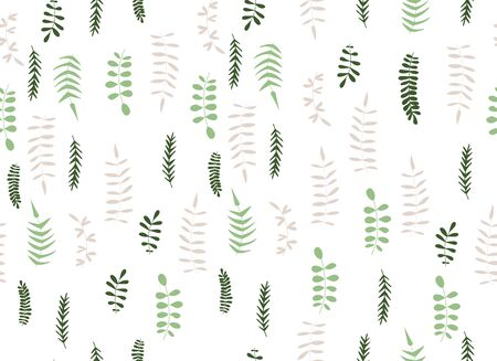 vector seamless simplified floral pattern in trendy colors.