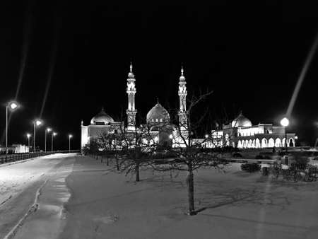 Main square and mosque of the ancient city of Bolgar, Republic of Tatarstan, Russia. Stockfoto