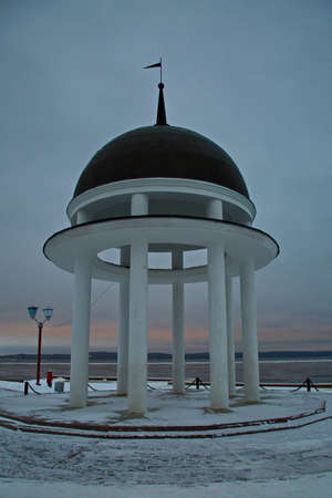 Rotunda on the embankment of Lake Onega.