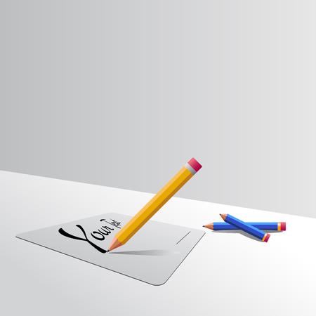 biro: Biro an pencil Illustration