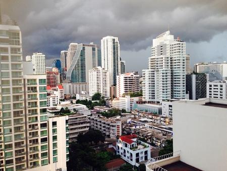 bangkok city: Bangkok city skyline Stock Photo