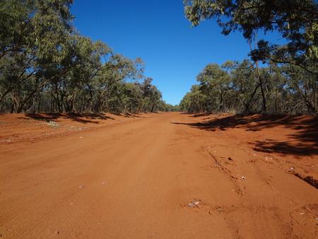 オーストラリアの砂漠の道 写真素材