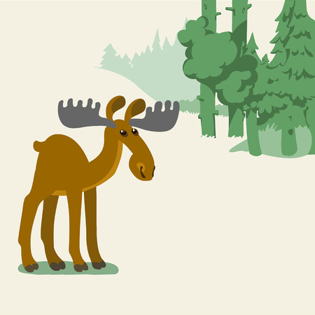 vector editable illustration in cartoon style Ilustrace