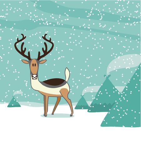 saami: vector editable illustration in cartoon style Illustration