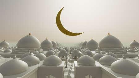 3D illustration Background for advertising and wallpaper in islamic festival and ramadan scene. 3D rendering in festival concept. Reklamní fotografie