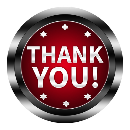 very: thank you button isolated Stock Photo