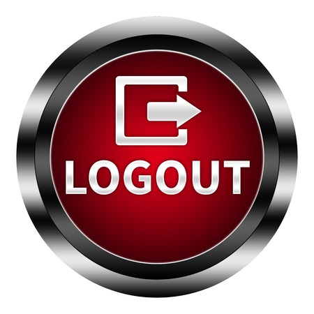 logout: logout button isolated