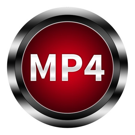 mp4: mp4 button isolated