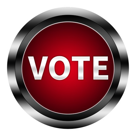 official ballot: Vote Button Isolated