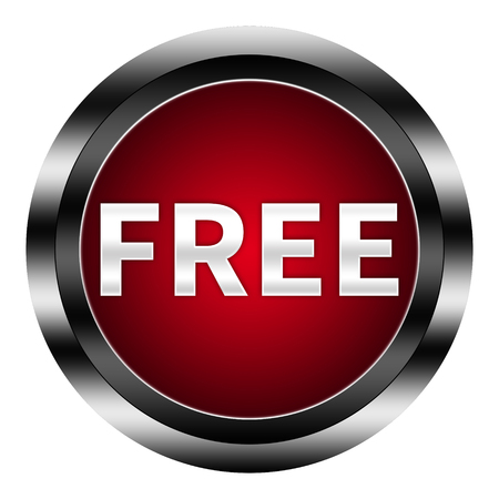 free button: free button isolated