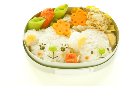 Lunch of parent-chil motif of bear
