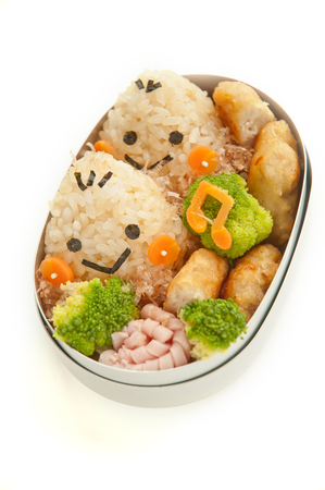 Lunch of chestnut motif Stock Photo