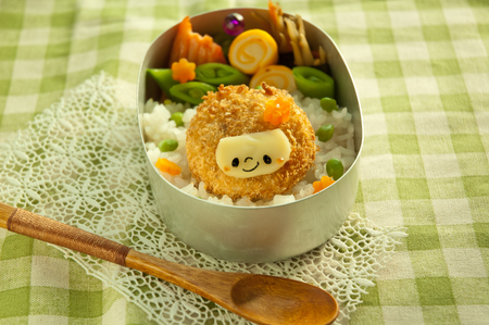 disguises: Lunch of Croquette head motif Stock Photo