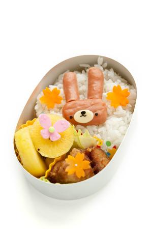Lunch of rabbit motif Stock Photo