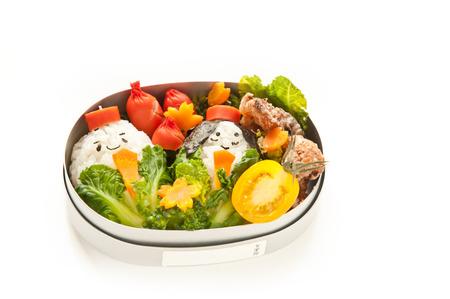 Lunch box of hinamatsuri motif