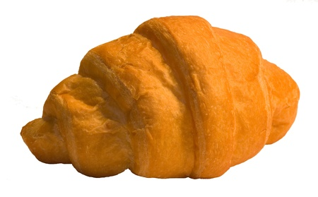 Fresh croissant on a white background Stock Photo