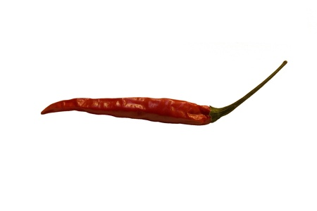 Red hot pepper on a white background