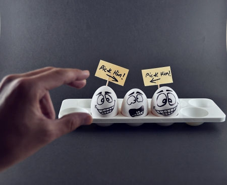 funny concept of eggs photo