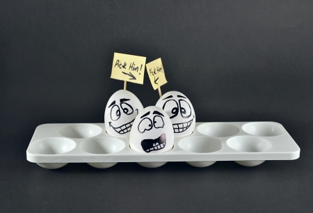 medium group of people: funy concept of eggs