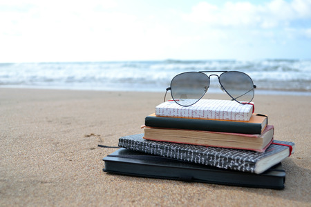 Books on a beach Stock fotó - 41988422