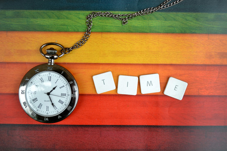 back in an hour: time clock Stock Photo