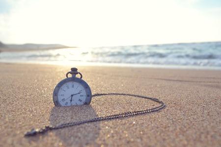 time clock Banque d'images