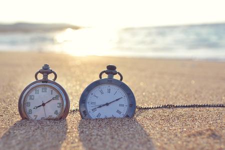 time clock: time clock Stock Photo
