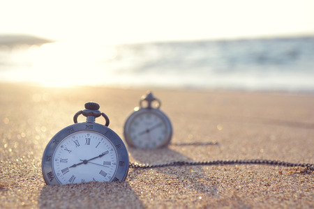 sand watch: time clock Stock Photo