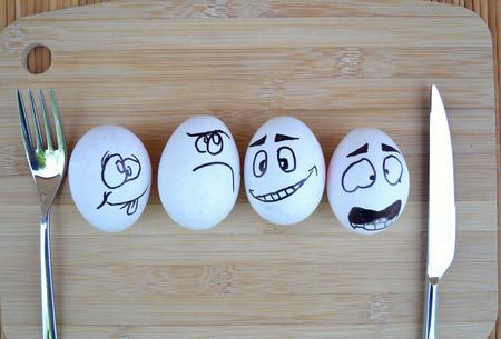 Funny Eggs Stock fotó