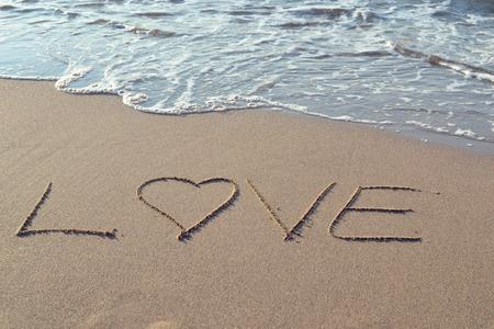 love on sand Stock fotó - 42507880