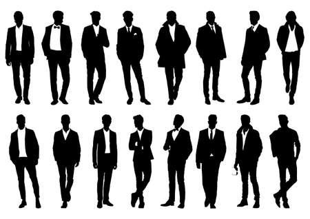 silhouette of a man in a classic suit Ilustração
