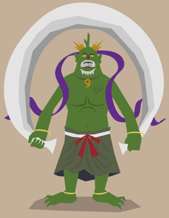 God of the wind Vector