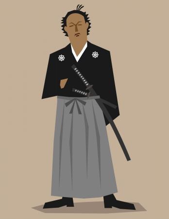 Samurai revolutionist   イラスト・ベクター素材