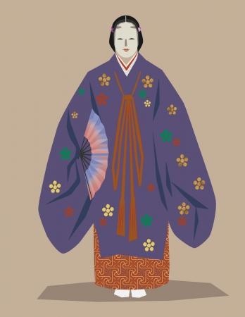noh: japanese noh dancer
