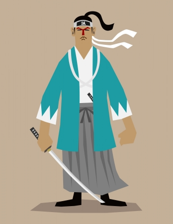 The last samurai Stock Vector - 13793801