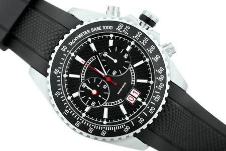 tachymeter: swis made elagance watch