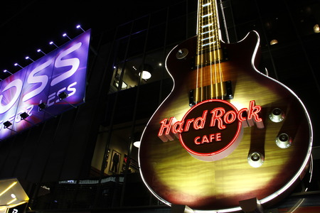 hard rock: LAS VEGAS - Hard Rock Cafe, as seen on Oct, in Las Vegas.