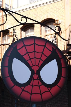 spider man: Photo of the Amazing Adventure of Spider Man, Spider Sign Editorial
