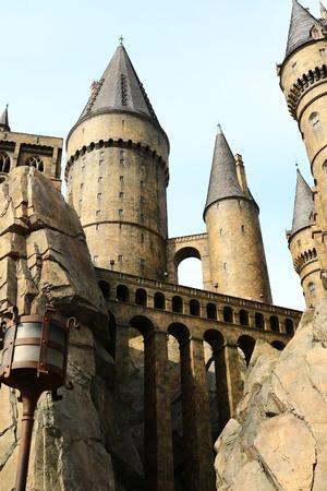 harry: Osaka, Japan-January 11, 2016: The Wizarding World of Harry Potter in Universal Studios Japan. Universal Studios Japan is a theme park in Osaka, Japan.