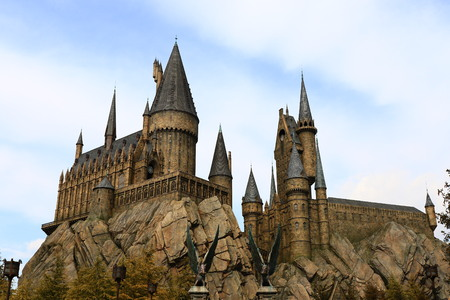 Osaka, Japan-January 11, 2016: The Wizarding World of Harry Potter in Universal Studios Japan. Universal Studios Japan is a theme park in Osaka, Japan.