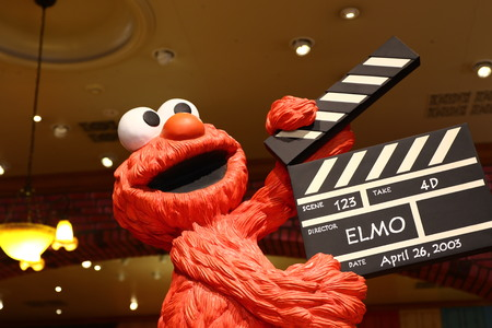 OSAKA, JAPAN-JAN 11, 2016: Photo of the Elmo statue are welcoming visitors at Universal Studio JAPAN, Osaka, Japan. Editorial