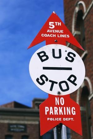 trespass: BUS STOP Sign