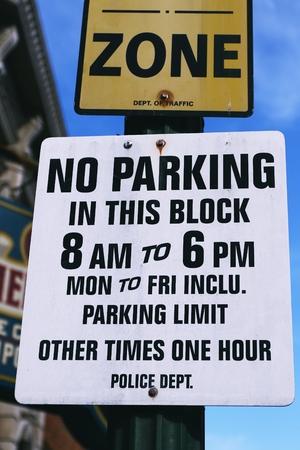 trespass: Road Sign, NO PARKING