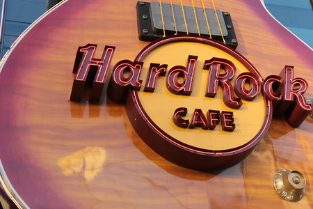 hard rock: LAS VEGAS - Hard Rock Cafe, as seen on Oct, by 2015, in Las Vegas.