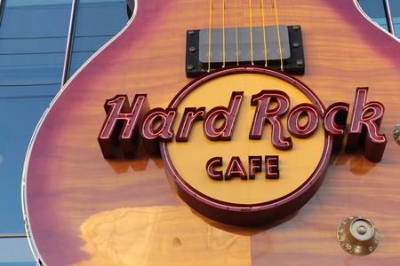 siegel: LAS VEGAS - Hard Rock Cafe, as seen on Oct, by 2015, in Las Vegas.