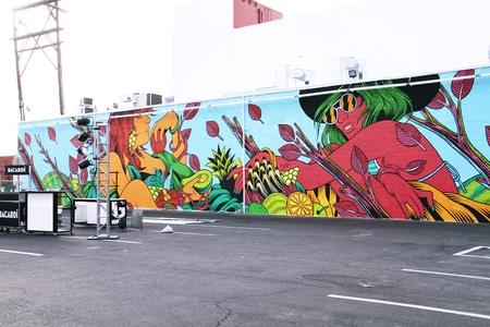 LAS VEGAS, NEVADA-31 oct. 2014 Las Vegas Downtown, art mural