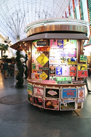 LAS VEGAS, NEVADA-Oct 31, 2014 Las Vegas Downtown, Sign collection Éditoriale